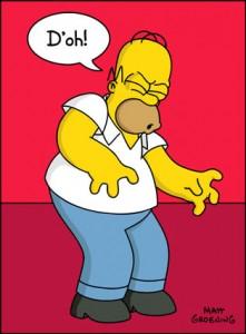 Homer Simpson 'Doh!'