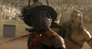Gannicus vs two Gladiators
